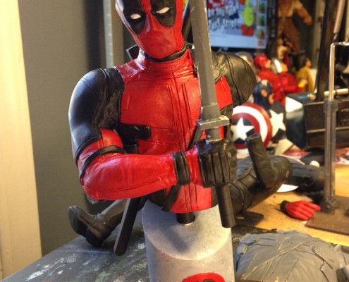 Resin Deadpool bust