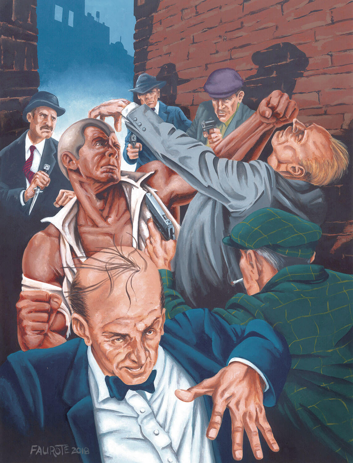 Tim Faurote Doc Savage magazine illustration